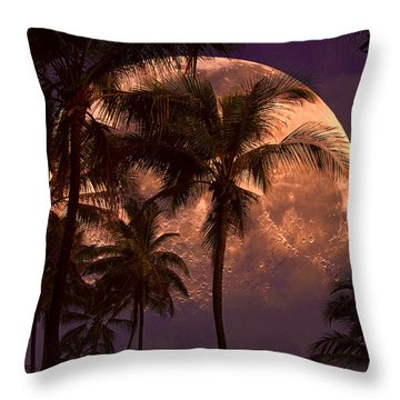 Warm Tropical Nights Throw Pillow