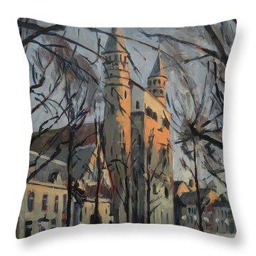 Warm Winterlight Olv Plein Throw Pillow