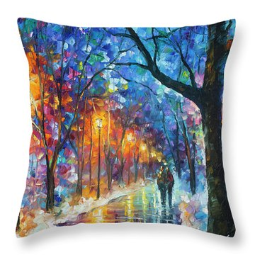 Warmed By Love Throw Pillow by Leonid Afremov
