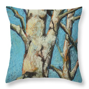 Warming Light Throw Pillow by Marlene Gremillion