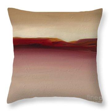 Warm Mountains Throw Pillow