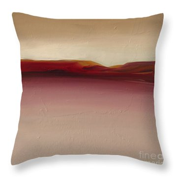 Warm Mountains Throw Pillow
