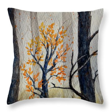 Warmth In Winter Throw Pillow