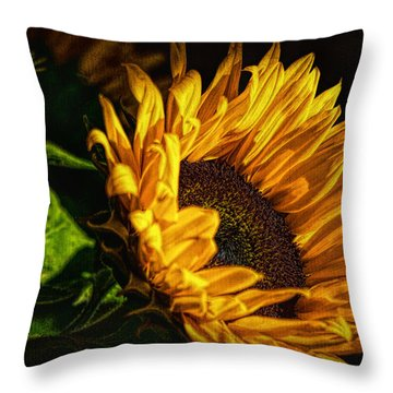 Throw Pillow featuring the photograph Warmth Of The Sunflower by Michael Hope