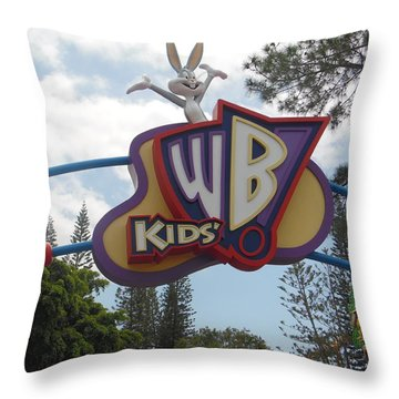 Warner Bros Sign Australia Throw Pillow