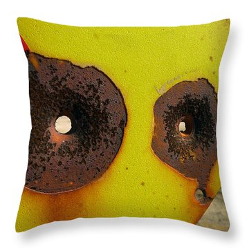Warning Shot Throw Pillow by Skip Hunt