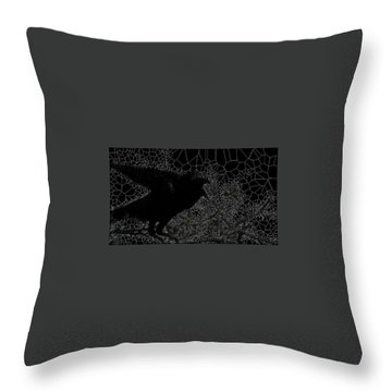 Warning Throw Pillow