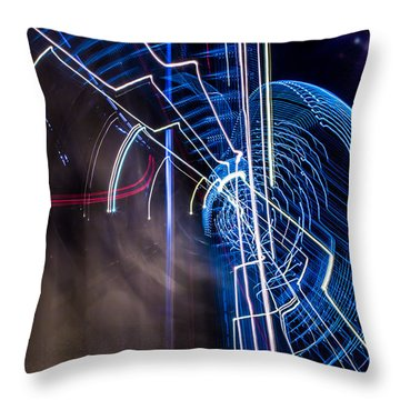 Warp Throw Pillow by Micah Goff