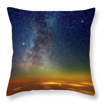 Warp Speed Throw Pillow