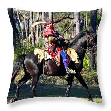 Warpath Throw Pillow by David Lee Thompson