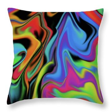 Warped Throw Pillow