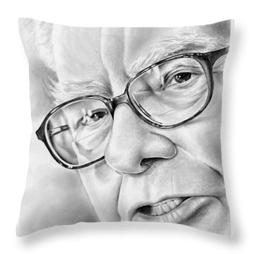 Warren Buffett Throw Pillow