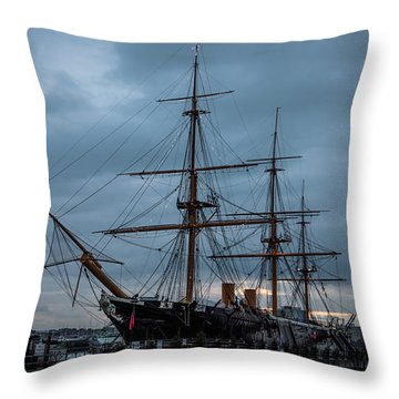 Warrior At Christmas Throw Pillow