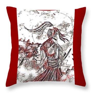 Warrior Moon Anime Throw Pillow by Vennie Kocsis