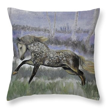 Warrior Of Magical Realms Throw Pillow