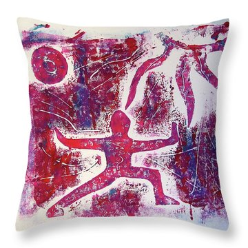 Warrior One  Throw Pillow