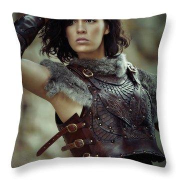 Warrior Princess Throw Pillow