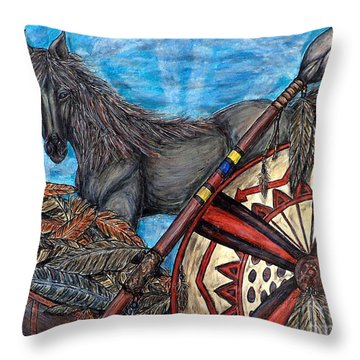 Warrior Spirit Throw Pillow