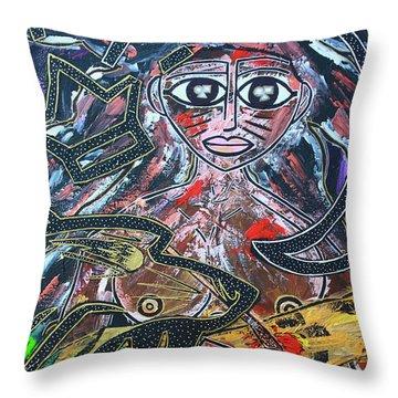Warrior Spirit Woman Throw Pillow
