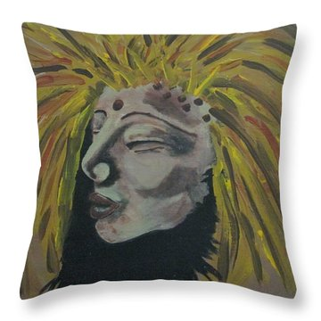 Warrior Woman #1 Throw Pillow