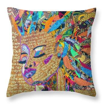 Warrior Woman Throw Pillow