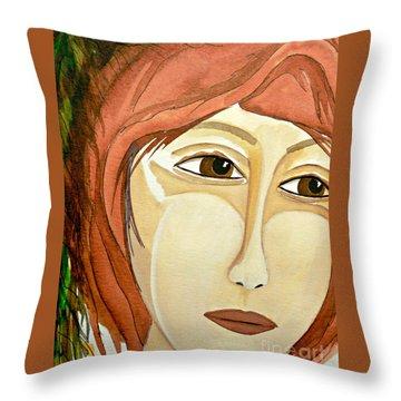 Warrior Woman - No Apologies Throw Pillow by Jean Fry
