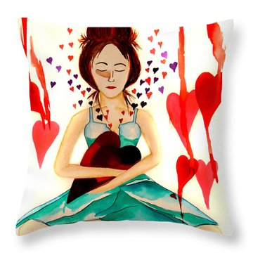 Warrior Woman - Tend To Your Heart Throw Pillow