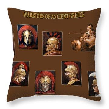 Warriors Of Ancient Greece Throw Pillow