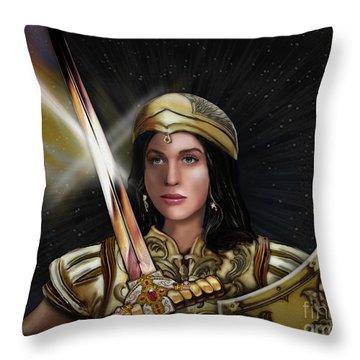 Warrioress Throw Pillows