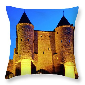 Throw Pillow featuring the photograph Warsaw Barbican by Fabrizio Troiani