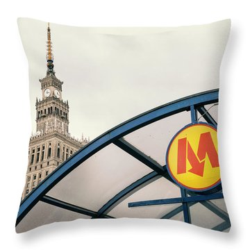 Throw Pillow featuring the photograph Warsaw by Chevy Fleet
