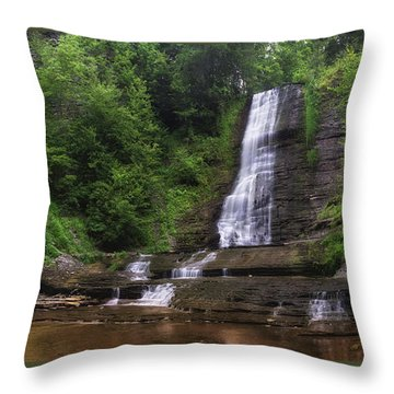 Throw Pillow featuring the photograph Warsaw Falls by Mark Papke