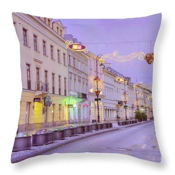 Throw Pillow featuring the photograph Warsaw by Juli Scalzi