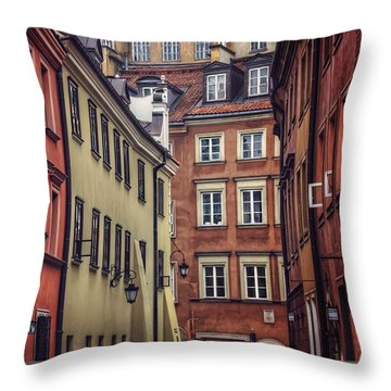 Warsaw Old Town Charm Throw Pillow by Carol Japp