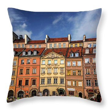 Warsaw Old Town Market Square  Throw Pillow