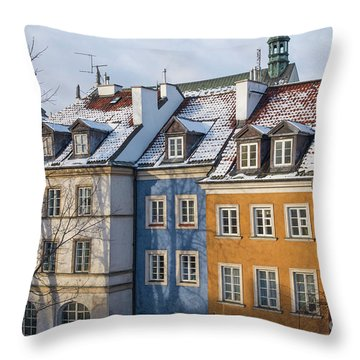Throw Pillow featuring the photograph Warsaw, Poland by Juli Scalzi