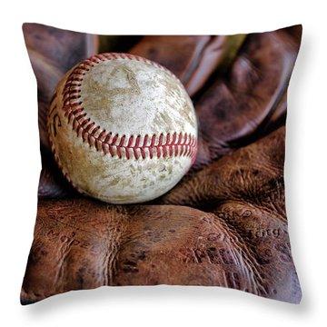 Wartime Baseball Throw Pillow