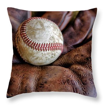 Wartime Baseball Throw Pillow