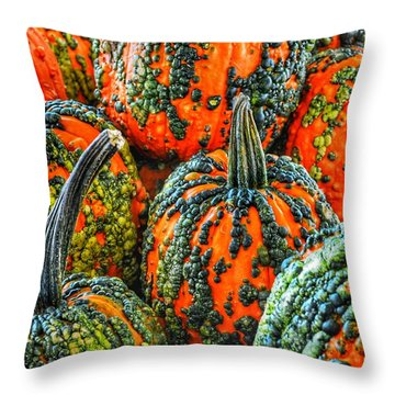 Warty Pumkins  Throw Pillow