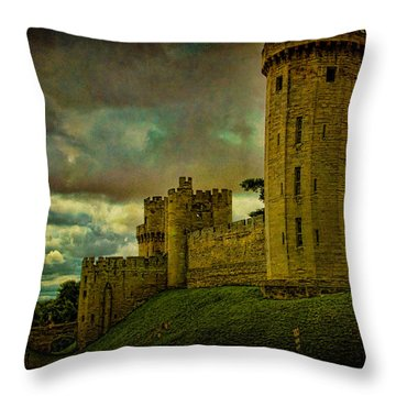 Warwick Castle Throw Pillow by Chris Lord