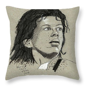 Warwick Davis Throw Pillow