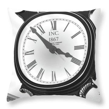 Warwick Train Clock  Throw Pillow