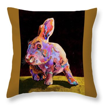 Throw Pillow featuring the painting Wary by Bob Coonts