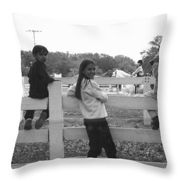 Was Watching Horses Throw Pillow