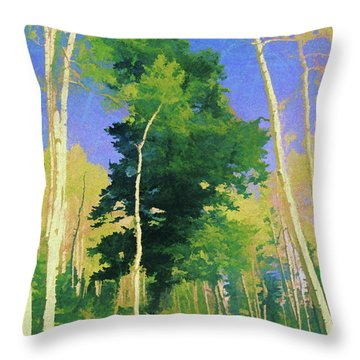 Wasatch Mountain Jungle Throw Pillow