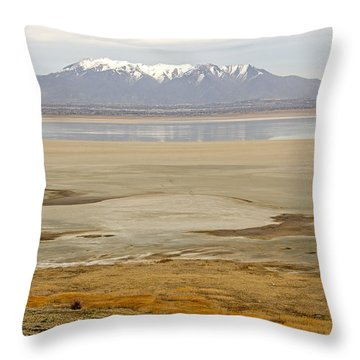Wasatch Mountains From Antelope Island Throw Pillow