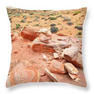 Throw Pillow featuring the photograph Wash 4 In Valley Of Fire by Ray Mathis