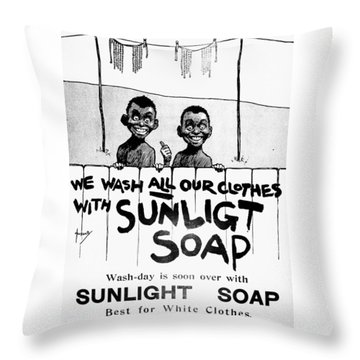 Wash-day Is Soon Over Throw Pillow