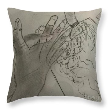 Wash Hands Throw Pillow