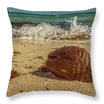 Throw Pillow featuring the photograph Wash Me Away by Melinda Ledsome